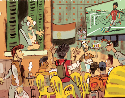 World Cup Egypt Doodle