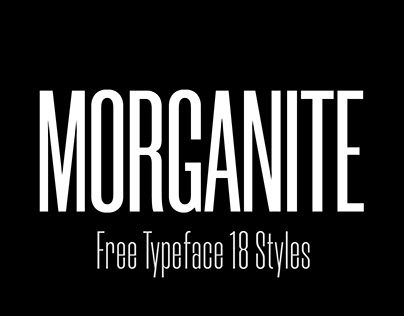 Morganite© / Free Typeface / 18 Styles