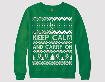 Keep Calm And Carry On Ugly Christmas Sweater