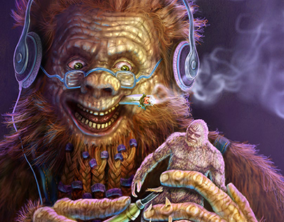 """Advertisement Painting For The Art Figure """"EPIC BIGFOOT"""