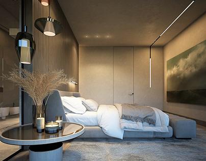 Kiev region 2020, Private house. Master bedroom