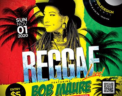 Reggae Live Concert Flyer