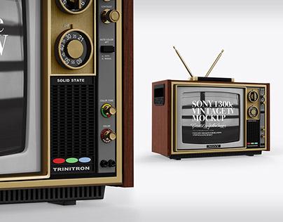 Sony 1300E Vintage Tv Mockup