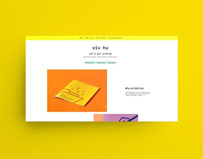UI & digital design - personal website