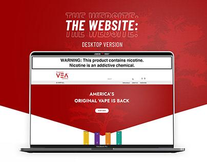 VEA Vapor - Desktop Website