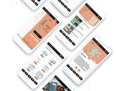UI/UX Skating Mobile App Design