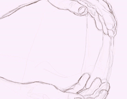 Hand study .. digital sketch