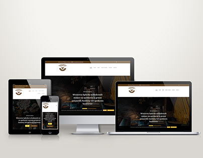 Website design for a wine bar