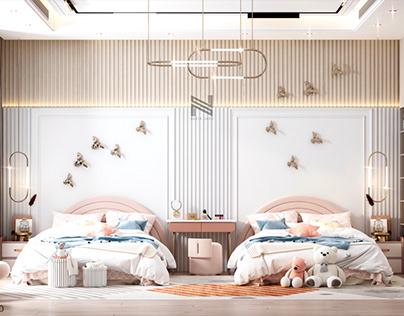 Girls bedroom design in Kuwait City