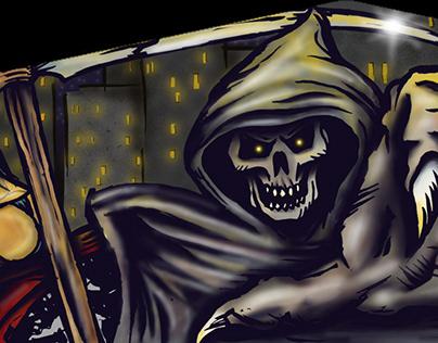 GTA Online in game Biker Club house murals