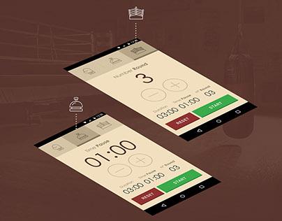 UI/UX - Boxer Timer App