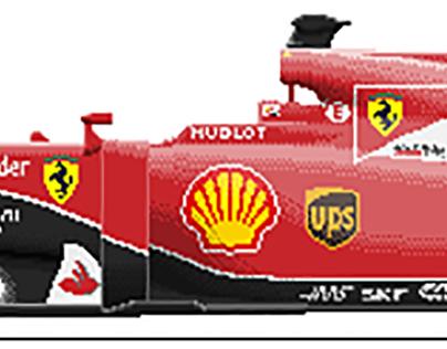 Pixel Art 20152016 Formula 1 Cars On Behance