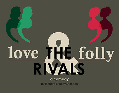 """A4 Poster for """"The Rivals"""", Amateur Theatre"""