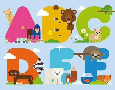 WE LOVE ANIMALS ABC
