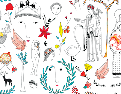 Pattern design. Mynos S/S collection La casita de Wendy