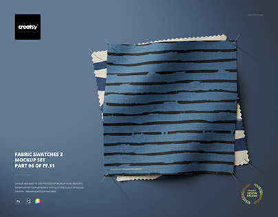 Fabric Swatches Mockup Set 2