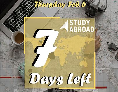 Countdown Study Abroad Fair