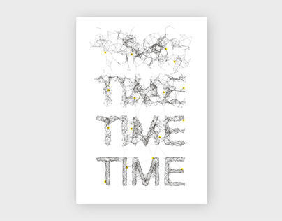 Time, generative poster