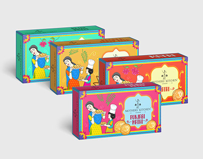 Illustrated Packaging for Snacks