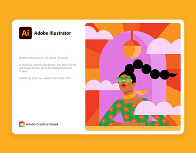 Adobe Illustrator Splash Screen 2021