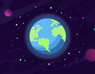 Flat design - Projeto SPACE