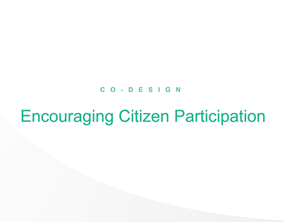 Co-Design - Encouraging Citizen Participation