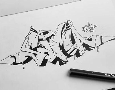 "Graffiti Sketch ""Sima"""