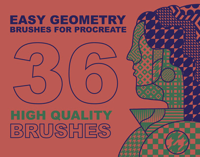 """36 High Quality Brushes """"Easy Geometry"""" for Procreate"""