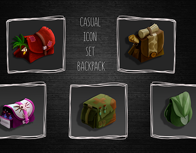 """Casual icon set """"Backpack"""""""
