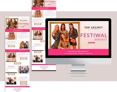 Strona www dla marki Top Secret
