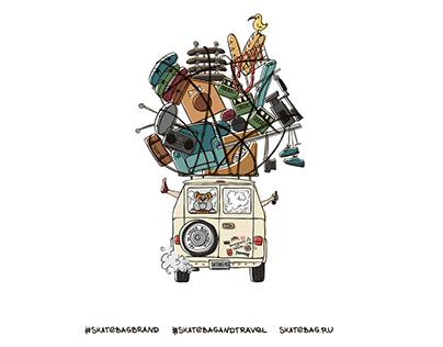 Illustration for the Skate BAG brand