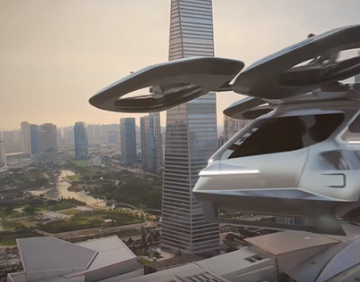 Flying Mobility Drone Design Concept (2020)