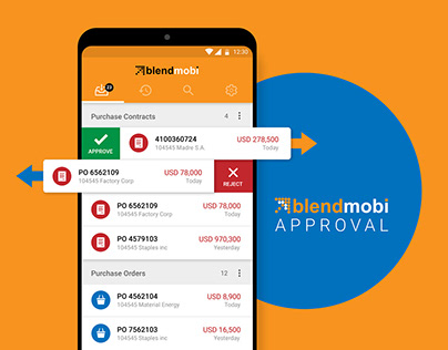 SAP Approvals Mobile App UI/UX