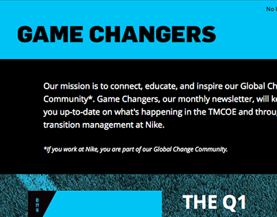 Game Changers Newsletter