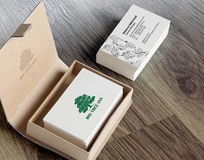 Big Tree Inn Business Card Design