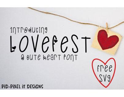 LoveFest A Cute Heart Font