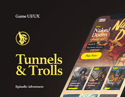 Tunnels & Trolls - UI/UX Design