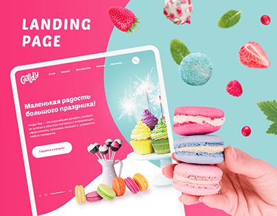Candy bar - website design