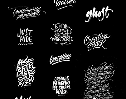 calligraphy+lettering compilation