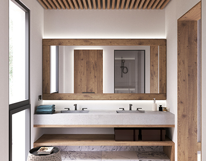 Bathroom design - Corona render