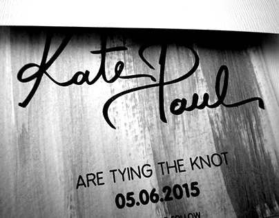 Modern Hand lettered Save-the-date.
