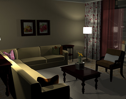 CGI- Living Room ( Sculpting , texturing and lighting)