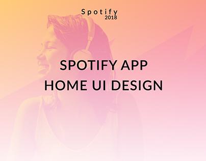 Spotify App UI Re-Design
