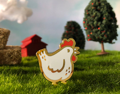 Chicken Enamel Pin