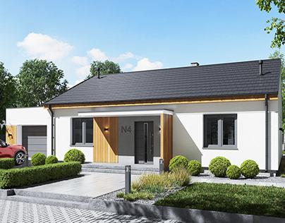 "Single family house ""N4""3D model + renders"