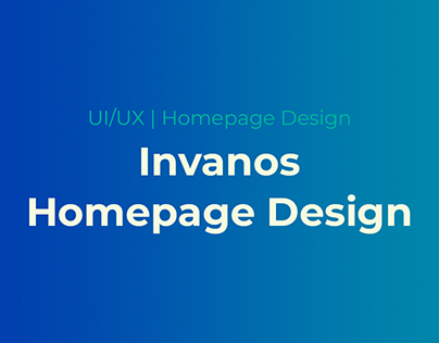 Invanos - Agency Homepage Design