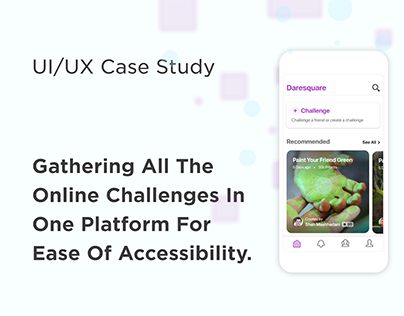 UI/UX case study for online challenges app
