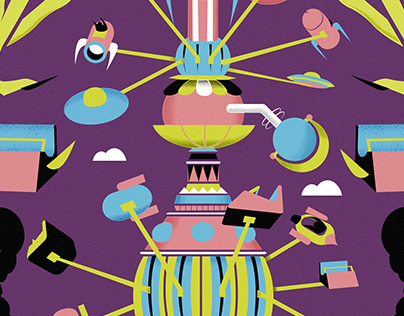 Space Fairground Illustration