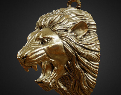 Lion head sculpt for 3d print