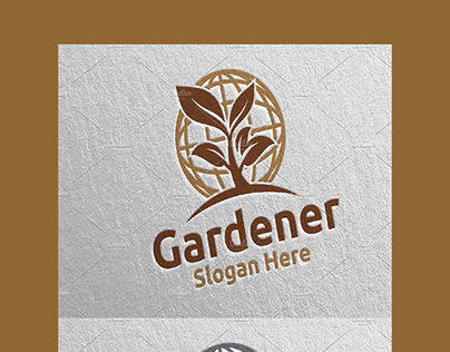 Global Botanical Gardener Logo 32